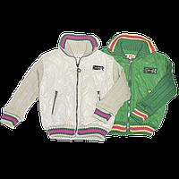 Детская весенняя, осенняя стеганая куртка на синтепоне,  подкладка флис, р.86,92,98, Турция