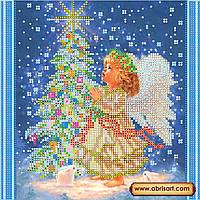 """Схема для вышивки бисером на натуральном холсте """"Новогодняя звезда""""  AC-048"""