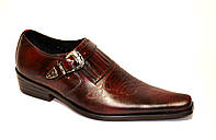 Туфли мужские кожаные коричневые с удлиненным носком. 42 размер