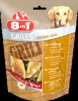 Хрустящие снэки лакомство для собак курине филе с ароматом барбекю 8in1 Grills Chicken Style 80 гр.