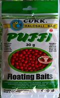 Наживка рыболовная плавающие воздушное тесто CUKK PUFFY  КЛУБНИКА миди (7 - 8  мм)