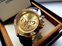 Часы наручные мужские  Rolex Daytona золотой циферблат , магазин мужских часов