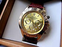 Часы наручные Rolex Daytona золото с коричневым ремешком , мужские часы интернет