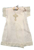 Рубашка для крещения лен №11