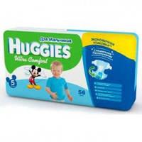 Подгузники Huggies Ultra Comfort №5 12-22 кг (60 шт) (хаггис ультра комфорт) для мальчиков