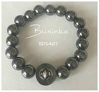 Детский черный браслет из гематита для мальчиков BD1407