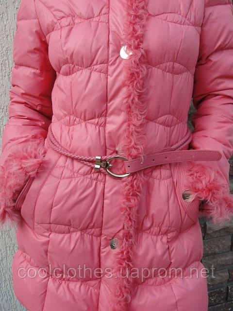 Кожаная куртка мутоном