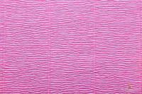 Гофрированная бумага (креп) Cartotecnica Rossi Shocking Pink № 551 Италия