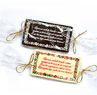 Шоколадки в виде приглашения на свадьбу. Пригласительные по Вашим ескизам