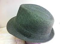шляпа федора оливкового цвета