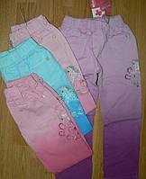 Котоновые брюки для девочек рост 98-128