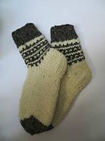 Тёплые мужские носки из овечьей шерсти бежевые