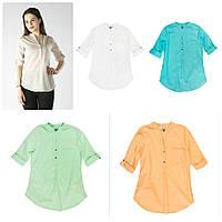 Рубашка женская котоновая разнеи цвета