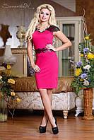 Женское облегающее платье до колен приталенное