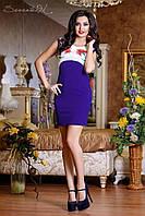 Женское летнее облегающее короткое платье Дайвинг
