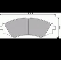 Тормозные колодки передние R14 на DAEWOO LANOS 1.6 16V (FOMAR)