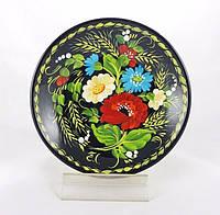 Расписная тарелка Цветочная радуга