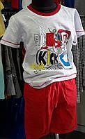 Костюм летний для мальчика с красными шортами