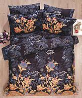 Стильное облегченное сатиновое постельное белье евроразмера тм Le Vele