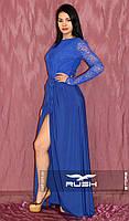 Элегантное платье в пол с разрезом