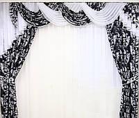 Ламбрикен изысканный для спальни Соренто Сливовый Розовый Синий