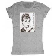 Женская футболка стильная с принтом Одри Хепбёрн