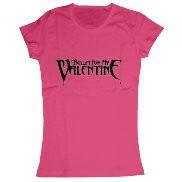 Женская футболка стильная с принтом Bullet for my Valentine