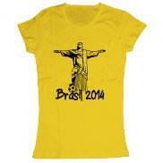 Женская футболка модная с принтом Brasil 2014