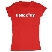 Женская футболка с надписью, принт Хэлло Китти