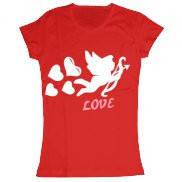 Женская футболка модная с принтом Купидон любви