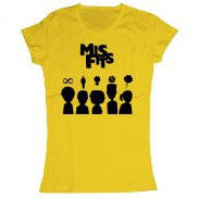 Женская футболка модная с принтом misfits