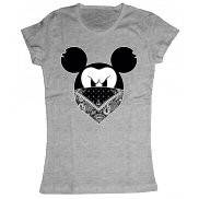 Женская футболка модная с принтом Микки Гангстер