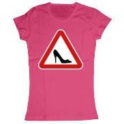 Женская футболка модная с принтом Туфелька