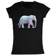 Женская футболка модная с принтом Слон