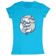 Женская футболка модная с принтом Медведь и слон