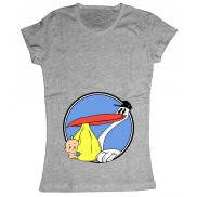 Женская футболка модная с принтом Аист