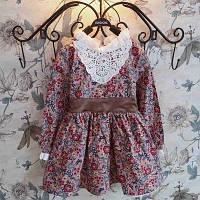 Модное детское платье с белым кружевом
