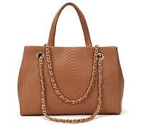 Женская сумка под кожу крокодила