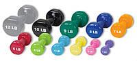 Гантели обрезиненные для фитнеса 6 кг пара ( 2 шт*3 кг )