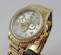 Женские наручные часы Rolex 013088 золотистые с серебристым циферблатом