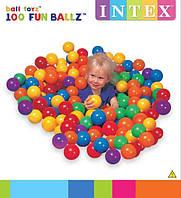 Шарики (мячики) цветные для сухого бассейна Intex 49600, 8 см (100 шт)
