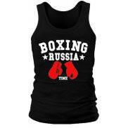 Майка мужская (хлопок) летняя с принтом Русский бокс