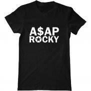 Мужская футболка летняя с принтом ASAP Rocky logo