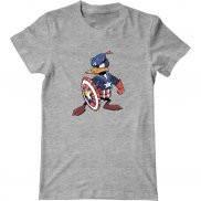 Мужская футболка модная с принтом Капитан гусь