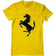 Мужская футболка модная с принтом Ferrari