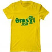 Мужская футболка модная с принтом Brasil Cup 2014