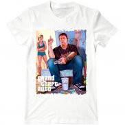 Мужская футболка модная с принтом Grand Theft Auto
