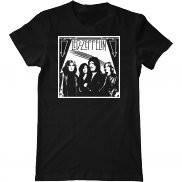 Мужская футболка летняя с принтом Led Zeppelin band 2