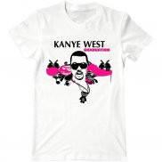 Мужская футболка летняя с принтом Kanye West style