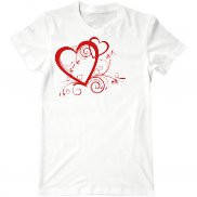 Мужская футболка летняя с принтом День Валентина